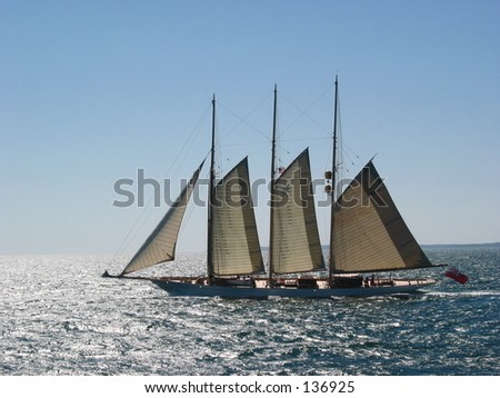 Sailing to the Vineyard - stock photo