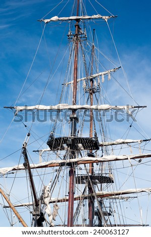 sailing vessel - stock photo