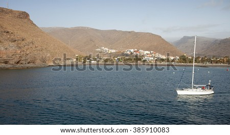 Sailing yacht - La Gomera - stock photo