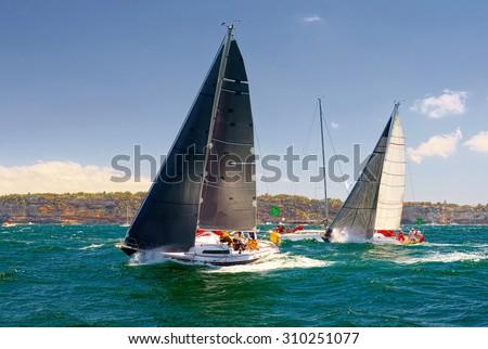 Sailing yacht .  Sailing. Yachting.  - stock photo
