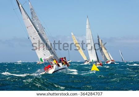 Sailing yacht . Yachting. Sailing - stock photo