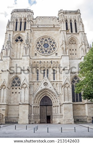 Saint Andre Cathedral. Bordeaux, Aquitaine. France. - stock photo