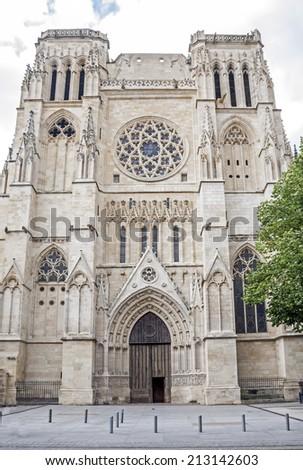 Saint Andre Cathedral. Bordeaux, Aquitaine. France. - stock photo