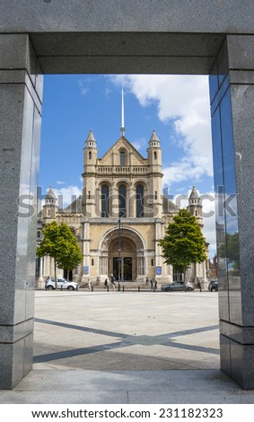 Saint Anne Cathedral in belfast, North Ireland - stock photo