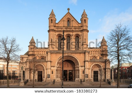 Saint Anne's Cathedral in Belfast Ireland  - stock photo