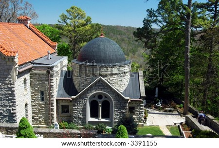 Saint Elizabeth's Church-Eureka Springs,Arkansas - stock photo