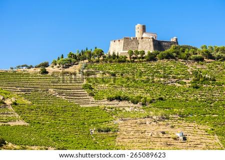 Saint Elme fortress, Languedoc-Roussillon, France - stock photo