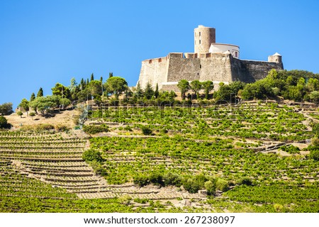 Saint Elme fortress, Languedoc-Roussillon, France - stock photo
