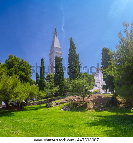 Saint Euphemia Church in Rovinj. Istria. Croatia. Europe. - stock photo