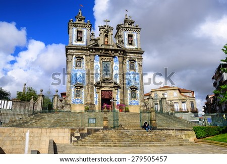 Saint Ildefonso church, Porto, Portugal - stock photo