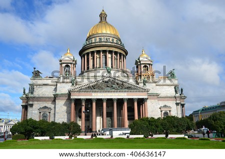 Saint Isaac's Cathedral in St. Petersburg, Russia - stock photo