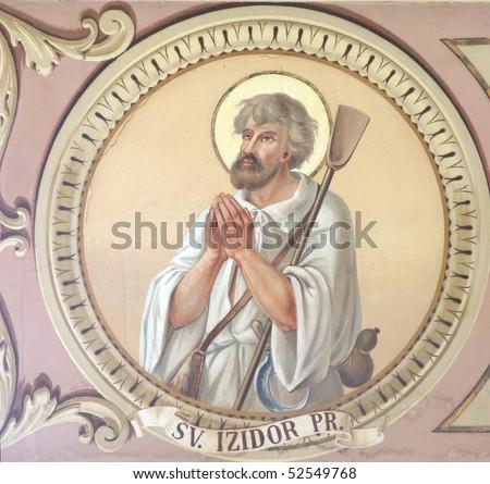 Saint Isidore - stock photo