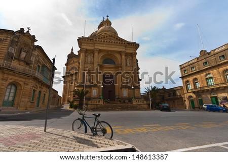 Saint John the Baptist church, Xewkija, Gozo, Malta - stock photo