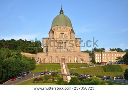 Saint Joseph Oratory (French: Oratoire Saint-Joseph) in Montreal, Quebec, Canada - stock photo