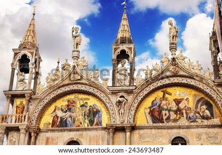 Saint Marks Basilica, Venice, Italy  - stock photo