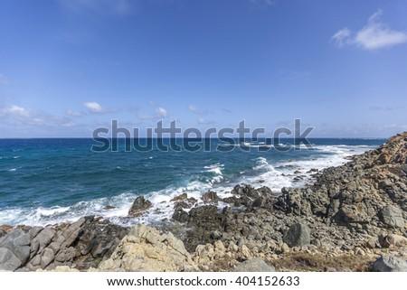 Saint Martin Beach: Best St Martin Beaches in Caribbean - stock photo