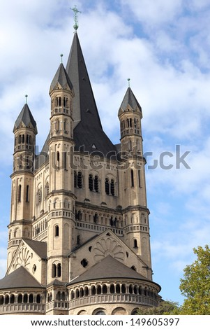 Saint Martin church of Cologne, Germany - stock photo