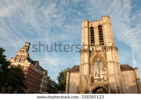 Saint Michael's Church in Ghent, Belgium. - stock photo