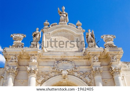Saint Orontio Gate in Lecce - Italy - stock photo