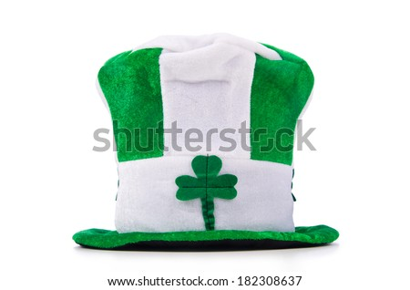 Saint Patrick holiday concept with green hat - stock photo