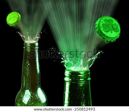Saint Patrick's day green beer. - stock photo