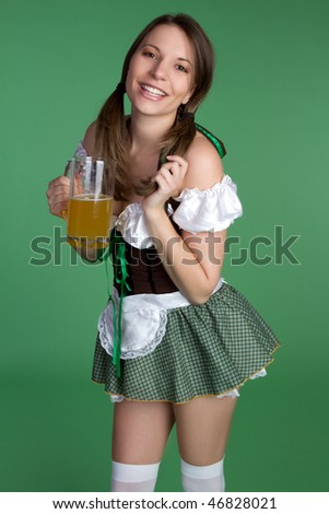 Saint Patricks Day Girl - stock photo