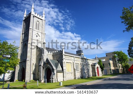 Saint Paul Anglican Church Kingston Ontario Canada 19th century historic heritage building - stock photo