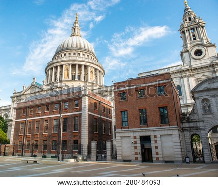 Saint Paul´s Cathedral in London - stock photo
