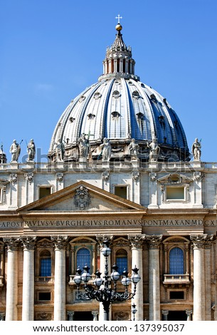 Saint Peter cathedral. Vatican. Rome. Europe. - stock photo