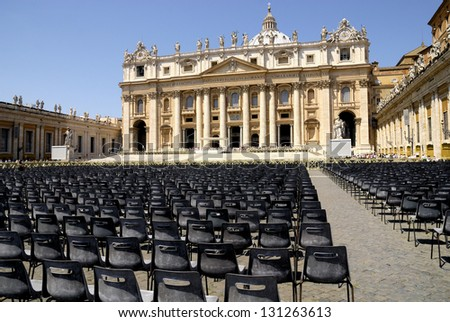 Saint Peter's Basilica, Rome, Italy - stock photo