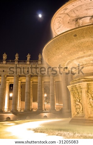 Saint Peter's Square. Rome. Italy,Vatican - stock photo
