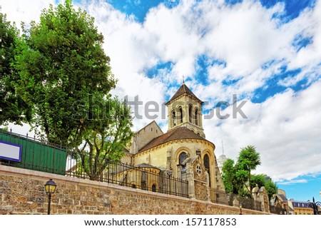 Saint-Pierre de Montmartre  on Montmartre , Paris, France. - stock photo