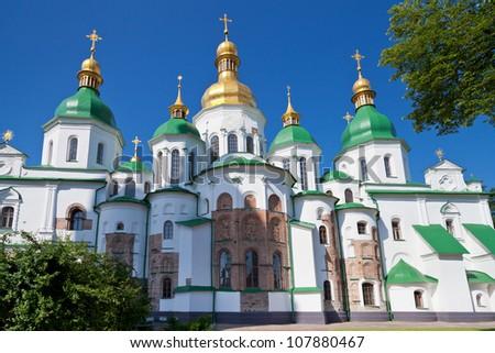 Saint Sophia Cathedral in Kiev, Ukraine in summer day - stock photo