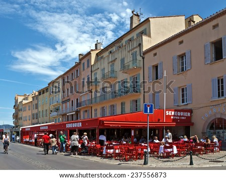 SAINT TROPEZ, FRANCE - JUNE 5, 2014: Architecture of Saint Tropez city in French Riviera, France.  - stock photo