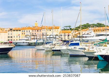 Saint-Tropez in France - stock photo