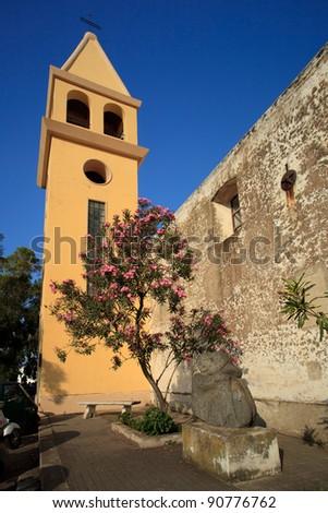 Saint Vincent Cathedral on Stromboli - stock photo