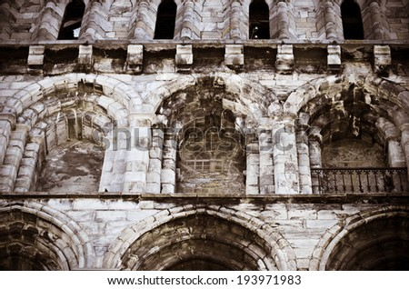 Saint Vincent church in Bagneres de Bigorre (France) - stock photo