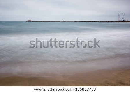 Saintes-Maries-de-la-Mer is the capital of the Camargue in the south of France. - stock photo