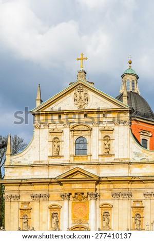 Saints Peter and Paul Church in Krakow, Poland - stock photo
