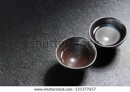 Sake, Japanese liquor - stock photo