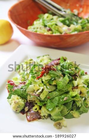 salad bowl vertical - stock photo