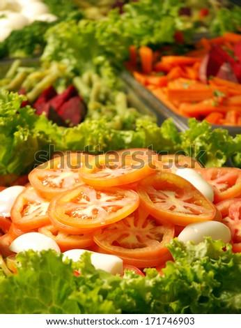 salad buffet - stock photo