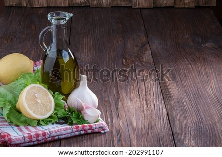 Salad dressing - stock photo
