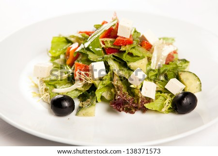 Salad, Feta - stock photo