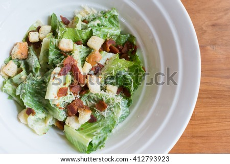 salad in a bowl - stock photo