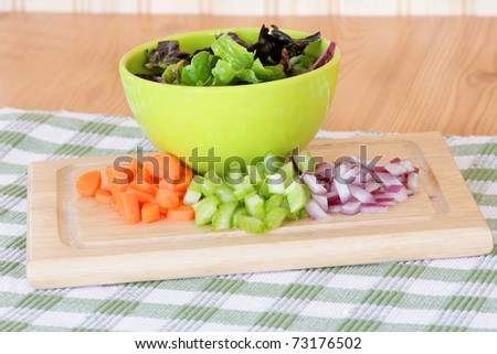Salad ingredients - stock photo