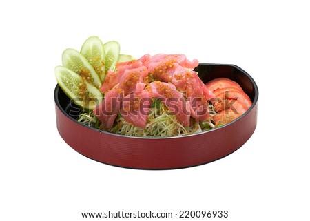 salad tuna spice - stock photo