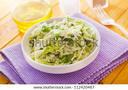 salad with cabbage - stock photo