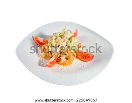 Salad with shrimps  - stock photo