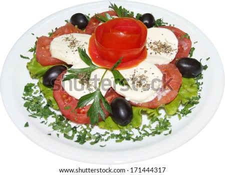 Salad with tomatoes - stock photo